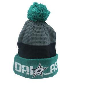 Dallas Stars NHL Reebok Youth Boys (8-20) Cuffed Pom Knit Winter Beanie Hat Cap