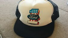 Retro vintage Ford #1 Truckers Mesh  Hat Cap