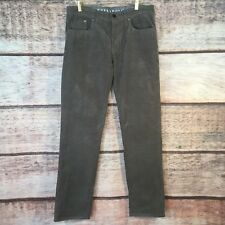 Women's Size 33 Billabong Corduroy Straight Pant Gray Button With Pockets 804072