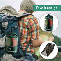 Camouflage Waterproof Reusable Emergency Sleeping Bag Thermal Survival Camping
