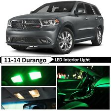 12x Green LED Lights Interior Map Dome Package Kit for 2011-2014 Dodge Durango