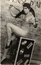 CPA femme. NUDE RISQUE real photo (500198)