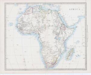 c1860 Large Colour Antique Map AFRICA Madagascar Abyssinia Nubia Egypt (MA/23)