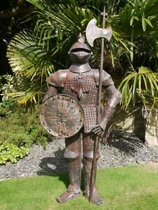 Knights Armour Medium Rusty Finish suit of armour Knight Statue for home  garden