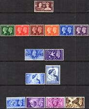 More details for 1937-1951 sg 461/514 complete set of kgvi commemorative issues mounted mint