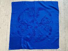 Designer, Frances Sanderson, Hand Printed Silk Scarf, Scotland, 25 X 25 inches