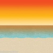 Île tropicale fête scène setter pièce rouleau décor décoration sunset beach