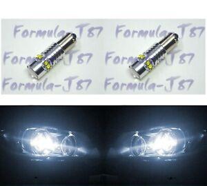 LED Light 50W BA9s White 5000K Two Bulbs Parking Backup Marker Turn Signal