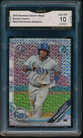 WANDER FRANCO 2019 1st Bowman Chrome Mega Box Mojo Refractor RC GMA 10 GEM MINT