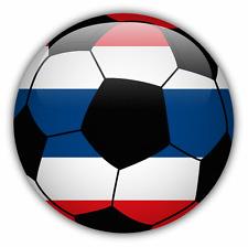 "Thailand Flag Soccer Ball Car Bumper Sticker Decal 5"" x 5"""