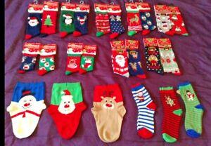 SOCKS MENS LADIES NOVELTY CHRISTMAS  SANTA SNOWMAN RUDOLPH PENGUIN