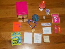 American Girl Mckenna Desk Accessories: Lamp hamster cage wheel