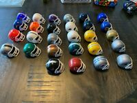 NFL GUMBALL HELMET SET 28 IN ALL RAVENS BRONCOS OILERS 49ERS VARIATIONS 1980'S