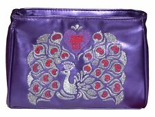 Anna Sui Flight of Fancy Zipped Purple Make Up Cosmetics Pouch Bag *New*