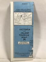 1950 VICTORIA AND ISLAND TOURING MAP British Columbia Canada Travel Tour Guide