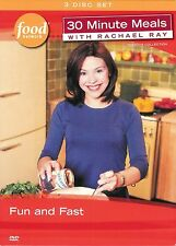 Food Network ~ Rachael Ray ~ Fun and Fast ~ 30 Minute Meals ~ 3-Disc DVD Box Set