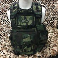 NEW Gen X Global GxG Tactical Paintball Vest Pod Harness - Woodland Camo