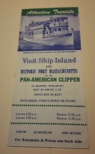 Visit Ship Island – Gulfport, MS – Pan-American Clipper - Brochure