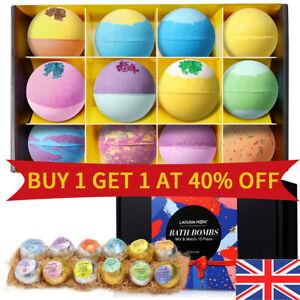 LAGUNAMOON Multi Scented Aromas Dry Skin Moisturize Colorful 12Pcs Set Bath Bomb