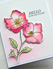 Hard to Find - Memory Box - Wild Rose Stem - Stamp and Die Bundle - Style Cl5258