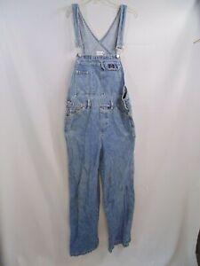 Vintage 90's Calvin Klein bib overalls Medium solid blue denim