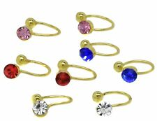4 Pair Set U-clip Non-Pierced Stud Style Clip-On Earrings Women Girls Kids Small
