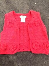 Fred Bare Baby Girls Red Crochet Vest Size 1