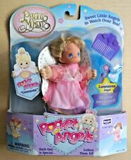 Precious Moments Pocket Angels doll Lonesome Angel pink dress purple comb new