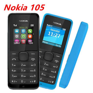 Original Nokia 105 Black FM Radio 2G GSM Good Quality Unlocked CellPhone