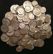 1/4OZ.++ 90% JUNK SILVER COIN LOT- NO NICKELS!!! 30 CENT FACE VALUE.