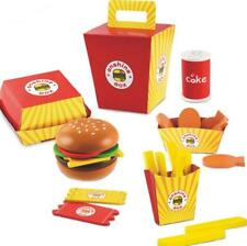 Fast Food Play Set Burger Fries Kids Toys Play Pretend Kitchen Gift Boy Girl NEW