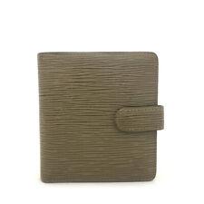 100% Authentic Louis Vuitton Epi Gray Leather Porte Billes Compact Wallet /70566