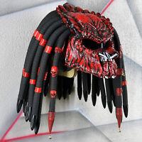 Predator helmet. Red devil version. DOT&ECE certified. Free worldwide shipping.