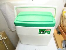 1985 Coleman OSCAR 5274 Cooler 16 Quart White with Green Lid in good shape - NR