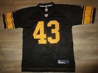 Troy Polamalu #43 Pittsburgh Steelers NFL Reebok Jersey LG L Mens