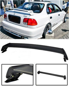 For 96-00 Honda Civic Mugen Style Rear Spoiler Wing trunk ABS Plastic 4Dr Sedan