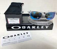 New Oakley HOLSTON SUNGLASSES POLISHED CLEAR / PRIZM SAPHIRE IRIDIUM OO9334-1358
