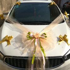 Auto Matrimonio Kit Organza Fiore Palla Fiocchi Ghirlanda Wrap Festa Arredo Casa