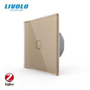 Livolo EU Standard 1Gang 2Way Touch Switch Zigbee Smart Wifi Switch Intermediate