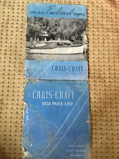Original 1938 Chris Craft Boat Price List And Cruiser 4 page Brochure