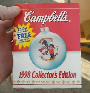 Vintage 1998 Campbell's Soup Antique Collectible Holiday Ornament  NOS