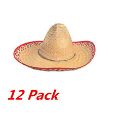 12 Pack New Mexican Sombrero Hat Cinco De Mayo Spanish Costume Festive Salsa