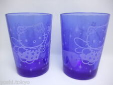 Sanrio Hello Kitty a pair of glass blue JAPAN  Brand-new 2003 rare