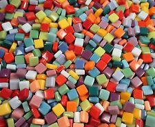 Glass Mosaic Tiles - Mixed Colors - 1 Pound Square 12mm Mosaic Tiles Bulk Mosaic