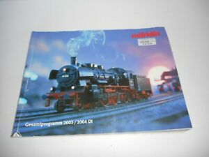 Marklin 2003/2004 Catalogue in German. Used condition. wear and tear.