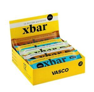 """Assorted bars Xbar """"TOP flavors"""", Showbox,12 pcs, 738 g"""