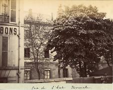 France, environs de St-Omer, Coin de l'école normale, ca.1880, Vintage albu
