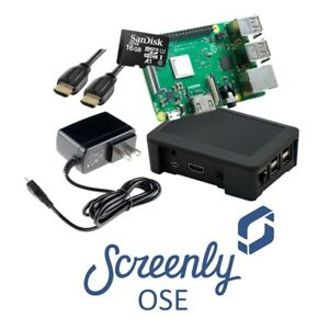 Screenly Open Source Edition Digital Signage Starter Kit, New