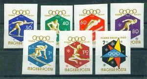 UNGARN, 1960 Winter-Olympiade 1688-74B geschnitten **, (7738)