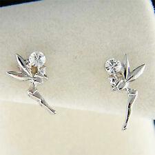 w Swarovski Crystal Girls Kid Small Tinkerbell fairy Stud Earrings NEW Xmas Cute